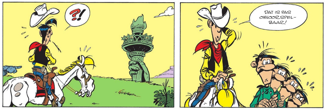 Lucky Luke 8 Een Cowboy in Parijs